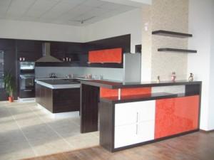Glass panel doors kitchen