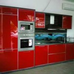 custom design illuminated glass kitchen splash back