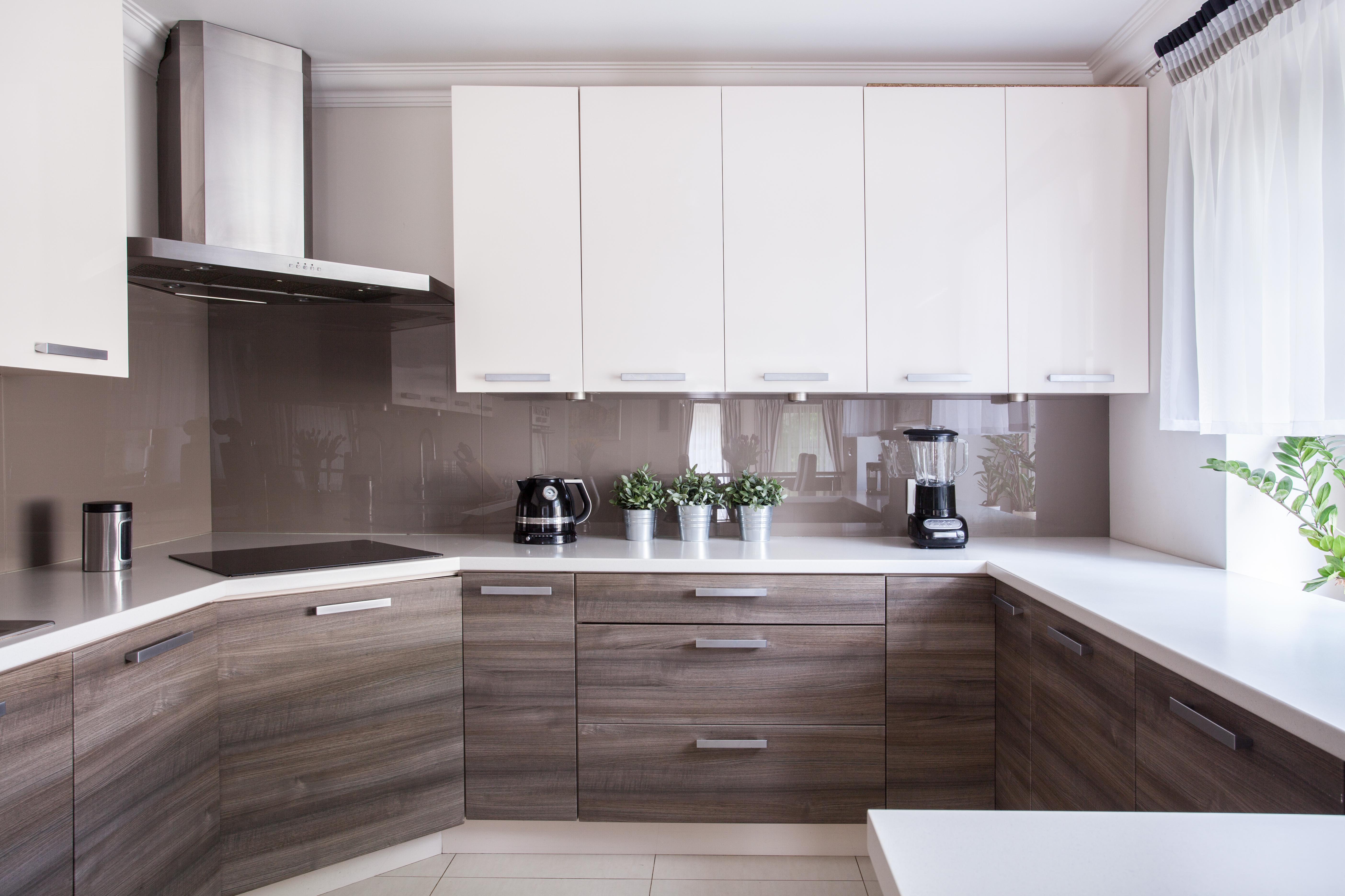 oak and ivory kitchen design