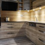brushed oak paneled kitchen