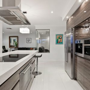 kitchen in Macassar gloss effect