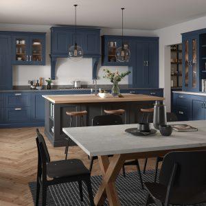 Edison- painted, shaker kitchen